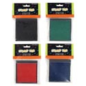 Stamp Pad Black/blue/red/green 3.125 X 3.25in On 12pc Mdsgstrip Craft Polybag/hdr