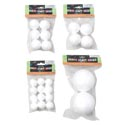 Craft Foam Balls 4asst Sizes 2/4/6/12pk In Polybag W/header Craft Pbh