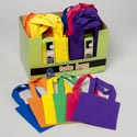 Craft Tote Bag 3pk 6in 6colors 48sets In Cnter Display Ea Set In Sleeve