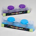 Craft Container 5pk Round 2x2-3/8 Asst Color Lids Shrink W/insert Sleeve