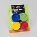 Finger Paint 4pk 0.845 Oz Ea 4ast Clr Blue/grn/yellow/red Gov Craft Blister Card