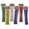 Chenille Stems Metallic 40ct 12in 6asst Solid Color Per Pack Craft Polybag/header
