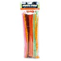 Chenille Stems 50ct 12in Asst Colors W/stripe Detail Craft Pbh