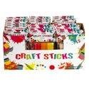 Craft Sticks Wood 80pc Reg/40pc Large Natural/multicolor 24pcpdq