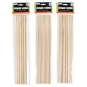 "Dowels Wooden 3ast Sizes 12in 6pc-3/8"" 10pc-1/4"" 20pc 3/16"" Craft Pbh"