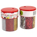 Confetti & Glitter Dispenser Shaker Red/gold/slvr 120g/4.2oz 3 Glitter/3 Confetti In Each