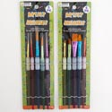 Artist Brush 5pc Set 2ast Style W/silicone Grip Craft Insertcard/pb