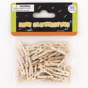 Clothespins Craft 50ct Mini 1in L X 0.25in Natural Color Pbh