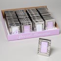 Frame 2x3 Mini Metal Silver Wedding/placesetting In 48pc Pdq Shrink Wrapped W/label