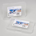 Photo Case Clear Plastic Holds 100 4x6 Pics 6.75x4.875x1.25 Gov Logo Prtdlbl
