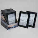 Photo Frame 4x6 Black 2ast Style Plastic In 12pc Pdq Shrink/label Piecrust Edge& Clean Concave