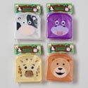 Sandwich Container W/animal Face Decal In Polybag/header