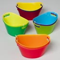 Tub Mini Oval 3pk Tri-color Combos 6.5 X 4.125 X 3.125in Tied W/upc Label