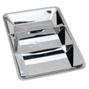 Tray Silver Plated Plastic 3 Section 14 X 9.25in Upc Label