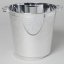 Ice Bucket Silver Plated 201 Oz 5.9l Plastic 8.5w X 8.75h Upc Label