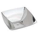 Bowl Square Silver Plated 12in Plastic/upc Label