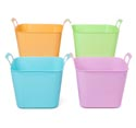 Tub Square W/handles Plastic 11x10x9in 188g 4ast Colors