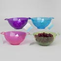 Colander/berry Bowl Mini Plastic 4colors 7.5x2.75in Kitch Hangtag Pink/purple/lime Green/turqu