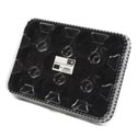 Serving Tray 12 Section Cupcake/ Muffin 13x9.6in Plastic W/black Base Clear Lid Reusable/upc