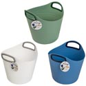 Basket Storage Plastic 7.87inh White-blue-green/130g W/ht
