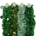 Garland Tinsel St Patrick 9ft 4ast Styles W/shamrock Icon St. Pat Barbell Card