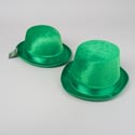 Hat St Patricks Velvet Derby Or Top Hat W/satin Trim St Pat Hangtag