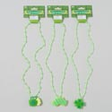 Necklace Lightup St.patrick Beaded W/icon Mug/shamrk/mustach Gov St.pat Barbell