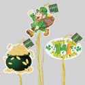 St Patricks Hanging Decor 6ast Foam Board W/ribbon Trim St Pat Hangtag
