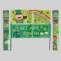 Yard Sign/banner St Pat's 2asst 30in W/2poles Polybag/header
