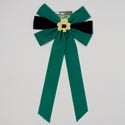 Bow Velvet W/glitter Shamrock Green & Black 12.5 X 25in L St Patrick Printed Header Card