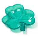 Shamrock Shaped Serving Dish 9x8.5in Plstc Green In 24pc Pdq Upc Label