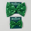 Bow Tie Sequined St Pat 2ast Reg/jumbo 10.5 X 7 & 6.5 X 4.5in Equally Assorted/tie On Card