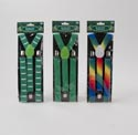 Suspenders St Pat 3ast Colors Green/multicolor/stache 31in L Pbh On A Insert Card