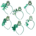 Headband St Pats 6ast Style Bows Green N White Color Combos St Pat Barbell Card