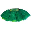 Tutu St Pats Green W/sequin 12x12in Young Adult Tie On Headr