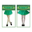 Tights St Pat Print Or Fishnet Adult Opp/insert