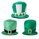 Top Hat St Pats Velvet Deluxe 3ast 11x14in/printed Hanger Card