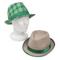 Hat St Patrick Fedora Plaid Or Tweed W Satin Trim Stpat Htjhook