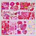 "Window Clings ""i Love You"" 12asst All Glitter Styles 2013 Gov Valentine Header"
