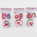 Baking Cup Kit Valentine 4asst 24-2in Cups+24 Plastic Picks On 12pc Merchstrip Valentine Pbh