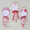 Notepad W/pen 3asst Valentine Lollipop Look 80sht Printed W/ribbon Gov Val Pbh