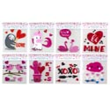 Gel Sticker Valentine 8ast Some W/print Valentine Pbh