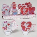 Led Love Tealight Novelty 4ast Icons Color Change 16pc Pdq Pvc/valentine Hangtag