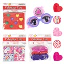 Party Favor Valentine 6asst 2-8pks Valentine Polybag Header Ring/whistle/maze/top/puzle/glss