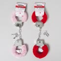Handcuffs Valentine Plush Covered Pink Or Red Val Tcd