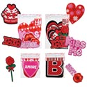 Cutouts/banners Valentine 6asst Jointed Banner/cutouts Val Polybag Header
