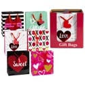 Gift Bag Love Glitter/hot Stamp 48pc Pdq/large 12.5x10x5 6asst Veritcal/3 Styles/upc