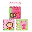 Notebook Valentine 60sht/3ast W/magnetic Close & Plastic Spirl 70gsm/paper Peggable Headercrd