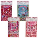 Sticker Set Valentine Valu Pak **w/book & Stickers 4ast/12pc Cs Merchstrip