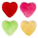 Heart Plush Pillow 4ast Colors 14x14in Valentine Hangtag 4-hotpink/4-red/2-green/2-yellow